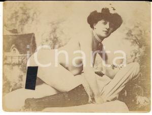 1900 ca VINTAGE EROTIC Couple on a sofa (2) RARE PORN Photo 12x9 cm