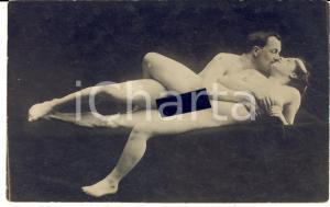 1910 ca VINTAGE EROTIC Couple having sex (1) RARE Photo PORN RPPC