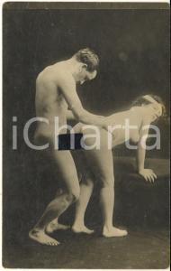 1910 ca VINTAGE EROTIC Couple having sex (5) RARE PORN Photo RPPC