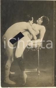 1910 ca VINTAGE EROTIC Couple having sex (6) RARE PORN Photo RPPC