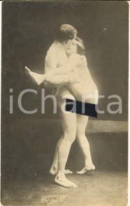 1910 ca VINTAGE EROTIC Couple having sex (7) RARE PORN Photo RPPC