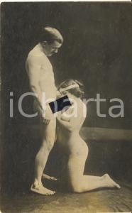 1910 ca VINTAGE EROTIC Nude couple having oral sex (5) RARE Photo PORN RPPC
