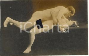 1910 ca VINTAGE EROTIC Nude couple having sex (9) RARE PORN Photo RPPC