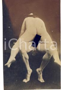 1910 ca VINTAGE EROTIC Nude couple having sex (11) RARE PORN Photo RPPC