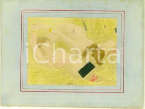1890 ca VINTAGE EROTIC LESBIAN Two women in a field *RARE PORN Photo chromo 13x9