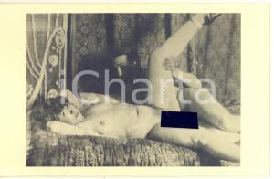 1940 ca VINTAGE EROTIC Nude couple having sex (5) RARE Photo PORN 14x9 cm