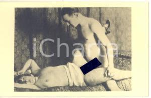 1940 ca VINTAGE EROTIC Nude couple having sex (6) RARE Photo PORN 14x9 cm