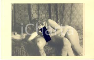 1940 ca VINTAGE EROTIC Nude couple - Oral sex (2) RARE Photo PORN 14x9 cm