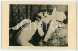 1940 ca VINTAGE EROTIC Nude couple - Oral sex (3) RARE Photo PORN 14x9 cm