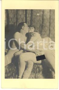 1940 ca VINTAGE EROTIC Nude couple - Oral sex (6) RARE Photo PORN 9x14 cm
