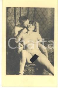 1940 ca VINTAGE EROTIC Nude couple sitting - RARE Photo PORN 9x14 cm