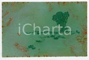 1900 ca ART NOUVEAU Girl - RARE ILLUSTRATED embossed postcard green