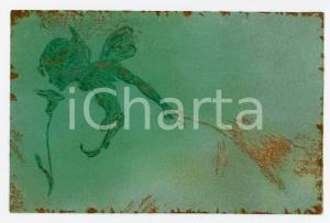 1900 ca ART NOUVEAU Fairy scene - RARE ILLUSTRATED embossed postcard
