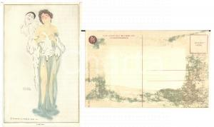1920 ca ART NOUVEAU Raphael KIRCHNER - Luxury - RARE Postcard *DAMAGED