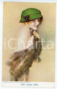 1920 ca Artist Raphael KIRCHNER The Glad Eye - Illustrated vintage postcard