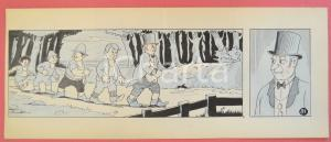 1950 ca DUTCH COMIC by A. REUVERS Original comic strip n.81 - ORIGINAL ART