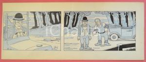 1950 ca DUTCH COMIC by A. REUVERS Original comic strip n.84 - ORIGINAL ART