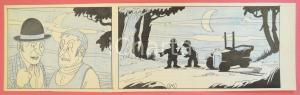 1950 ca DUTCH COMIC by A. REUVERS Original comic strip n.85 - ORIGINAL ART