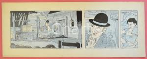 1950ca DUTCH COMIC by A. REUVERS Original comic strip n.89 ORIGINAL ART *DAMAGED