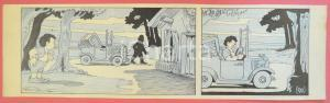 1950 ca DUTCH COMIC by A. REUVERS Original comic strip n.90 - ORIGINAL ART