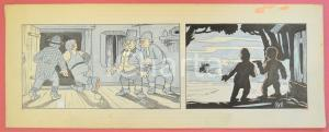 1950 ca DUTCH COMIC by A. REUVERS Original comic strip n.91 - ORIGINAL ART