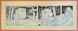 1950 ca DUTCH COMIC by A. REUVERS Original comic strip n.93 - ORIGINAL ART