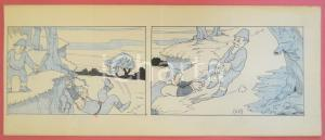 1950 ca DUTCH COMIC by A. REUVERS Original comic strip n.101 - ORIGINAL ART
