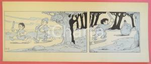 1950 ca DUTCH COMIC by A. REUVERS Original comic strip n.103 - ORIGINAL ART