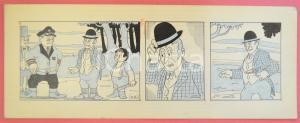 1950 ca DUTCH COMIC by A. REUVERS Original comic strip n.106 - ORIGINAL ART