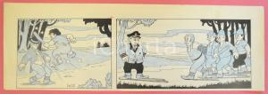 1950 ca DUTCH COMIC by A. REUVERS Original comic strip n.107 - ORIGINAL ART