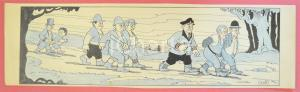 1950 ca DUTCH COMIC by A. REUVERS Original comic strip n.108 - ORIGINAL ART