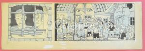 1950 ca DUTCH COMIC by A. REUVERS Original comic strip n.110 ORIGINAL ART