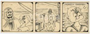 1940ca DRUMPIE'S DOLLE ADVENTUREN Comic strip 66 - A. REUVERS Omnium Press RARE