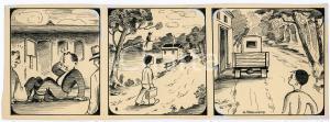 1940ca DRUMPIE'S DOLLE ADVENTUREN Comic strip 8 - A. REUVERS Omnium Press RARE