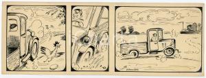 1940ca DRUMPIE'S DOLLE ADVENTUREN Comic strip 10 - A. REUVERS Omnium Press RARE