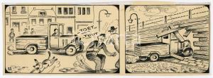 1940ca DRUMPIE'S DOLLE ADVENTUREN Comic strip 11 - A. REUVERS Omnium Press RARE