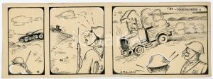 1940ca DRUMPIE'S DOLLE ADVENTUREN Comic strip 12 - A. REUVERS Omnium Press RARE