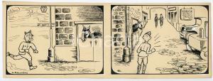 1940ca DRUMPIE'S DOLLE ADVENTUREN Comic strip 16 - A. REUVERS Omnium Press RARE