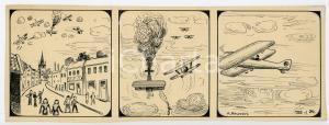 1940ca DRUMPIE'S DOLLE ADVENTUREN Comic strip 24 - A. REUVERS Omnium Press RARE