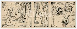 1940ca DRUMPIE'S DOLLE ADVENTUREN Colonial comic strip 34 - A. REUVERS *RARE