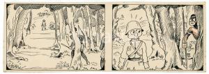 1940ca DRUMPIE'S DOLLE ADVENTUREN Colonial comic strip 35 - A. REUVERS *RARE