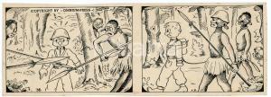 1940ca DRUMPIE'S DOLLE ADVENTUREN Colonial comic strip 36 - A. REUVERS *RARE