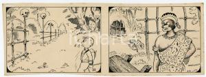 1940ca DRUMPIE'S DOLLE ADVENTUREN Colonial comic strip 37 - A. REUVERS *RARE