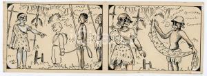 1940ca DRUMPIE'S DOLLE ADVENTUREN Colonial comic strip 38 - A. REUVERS *RARE