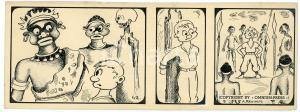 1940ca DRUMPIE'S DOLLE ADVENTUREN Colonial comic strip 42 - A. REUVERS *RARE