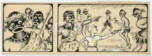 1940ca DRUMPIE'S DOLLE ADVENTUREN Colonial comic strip 44- A. REUVERS *RARE