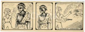 1940ca DRUMPIE'S DOLLE ADVENTUREN Colonial comic strip 45- A. REUVERS *RARE