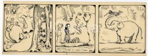 1940ca DRUMPIE'S DOLLE ADVENTUREN Colonial comic strip 55 - A. REUVERS *RARE