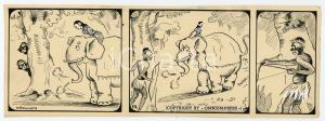 1940ca DRUMPIE'S DOLLE ADVENTUREN Colonial comic strip 57 - A. REUVERS *RARE