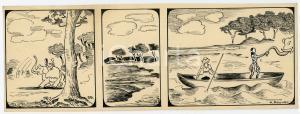 1940ca DRUMPIE'S DOLLE ADVENTUREN Colonial comic strip 59 - A. REUVERS *RARE